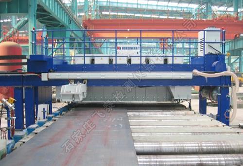 钢板自动探shang机检测liu水线