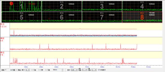 超声波探伤扫描界面